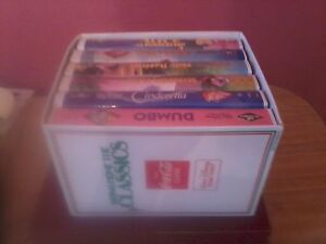 1988 VHS Lot of 6 Tape VCR Walt Disney/Coca Cola  Bundle Bulk Set Christmas