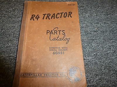 Caterpillar Model Cat R4 Crawler Tractor Dozer Parts Catalog Manual Sn 6g931-up