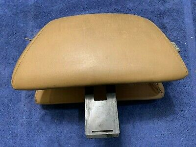 1987 Classic Saab 900 Convertible Hatchback Tan Leather Front Seat Head Rest for sale  Shipping to Ireland