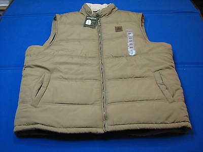 Xxl New Field Stream Explorer Quilted Vest Original Outfitter Puffy Tan Brown Me
