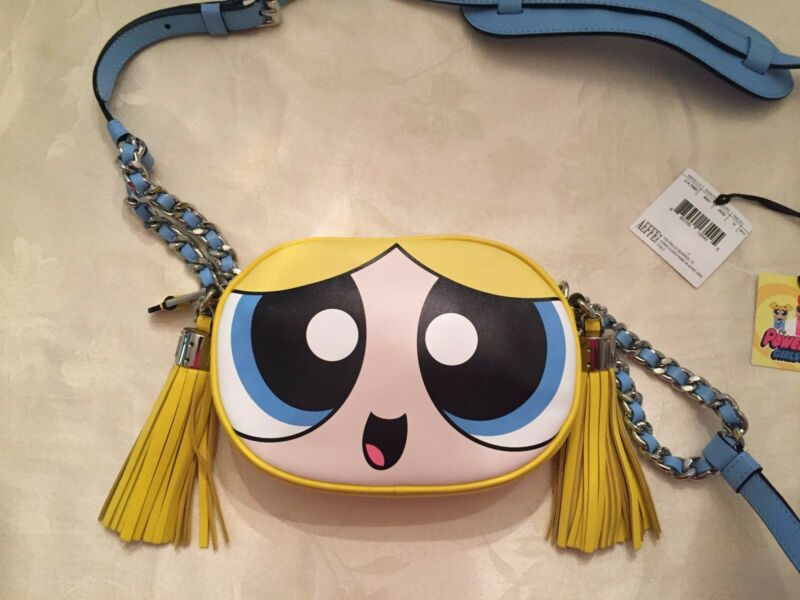 5b5ae192877 $995 Moschino Couture JEREMY SCOTT POWERPUFF GIRLS LEATHER shoulder bag  Bubbles фото