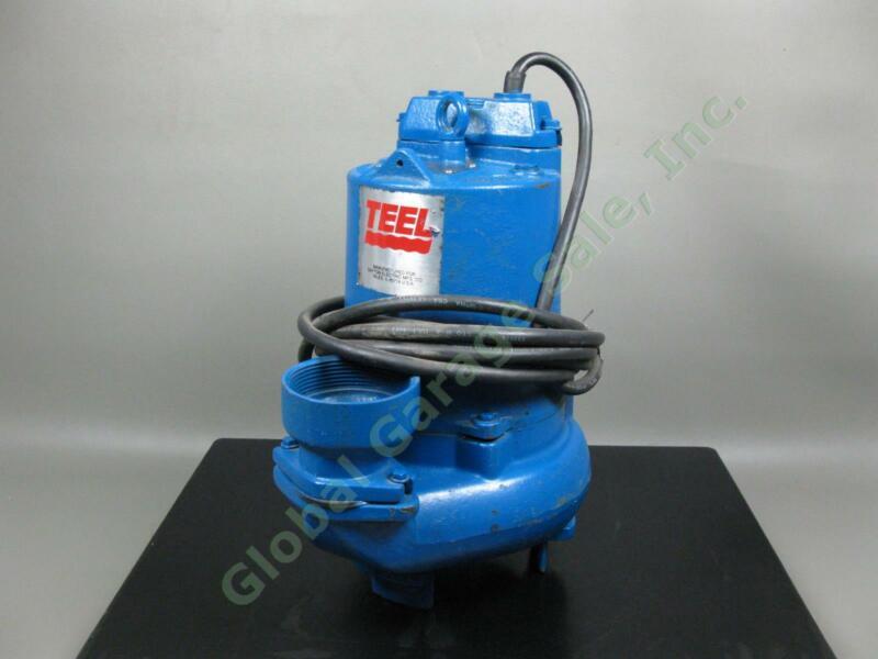 "Teel Dayton Cast Iron .5 HP 3PH 3"" Sump Submersible Sewage Pump 172GPM @21 Feet"