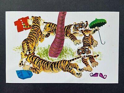 Sambo's Picture Story Series, Jealous Tigers, Vintage Chrome Postcard Unused