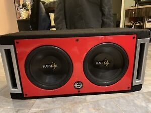 "2 12"" caption subs for sale in a dual ported bassworx box 160$"