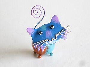 Funky Metal Cat Ornament Photo Holder Card Holder Picture Holder.....