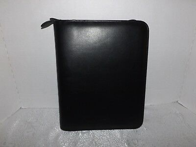 Day Timer Black Genuine Leather 7-ring Binder Only 9 X 11