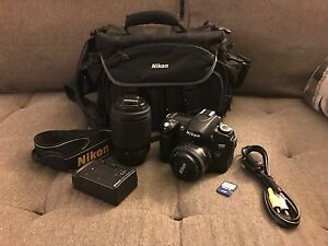Nikon D80 DSLR - 10.2MP - 3 lenses!