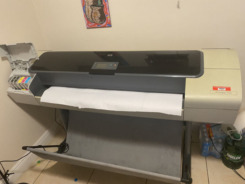 HP Designjet T1100ps 44in Wide Large Format Printer Plotter