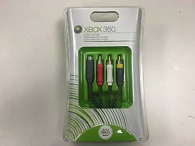 Original Microsoft Xbox 360 S Video AV Cable Brand New factory -