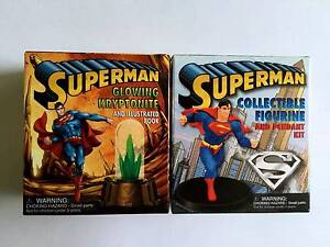 Rare Mini Superman Collectible Figurine + Pendant + Glowing Krypt North Sydney North Sydney Area Preview