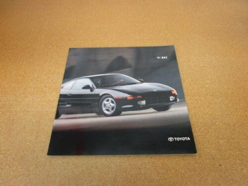 ORIGINAL 1991 Toyota MR2 sales brochure 18 page dealer literature