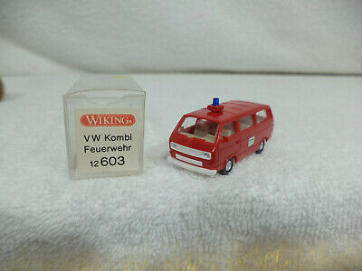 WIKING 12603 VW Kombi Brandweerwagen realistisch Schaal HO 1/87 nieuwe staat