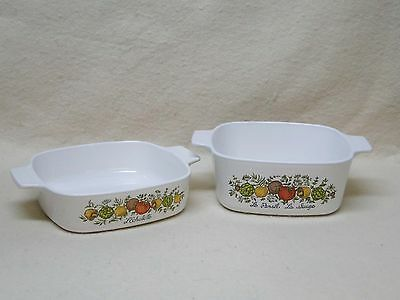 Corning Ware SPICE O' OF LIFE 1 Qt. & 1.5 Qt. Casserole   on Rummage