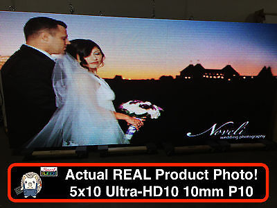 Used 2 Sided Outdoor Full Color Led Sign 5x10 126l X 63h Wifi P10 10mm