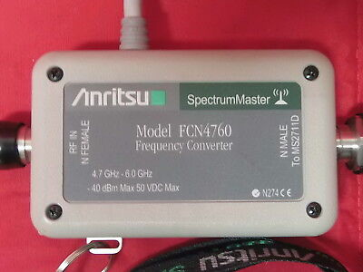 Anritsu Fcn4760 Rf Frequency Converter 4.7ghz - 6ghz For Spectrum Master Ms2711d