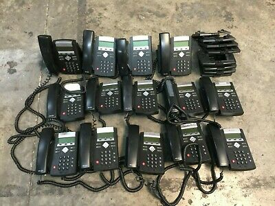 Lot Of 14 Polycom Ip 335 Voip Business Phones W 14 Handset 12 Stand