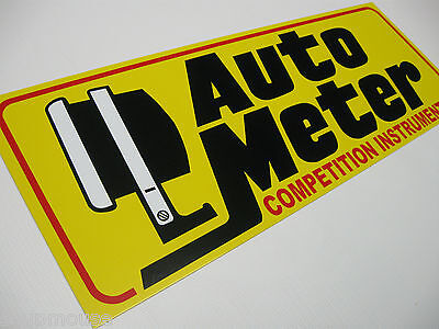 """Auto Meter,Competition Instruments,Tach,Sales,Service,Yellow Alum.,6""""x17"""",Sign"""