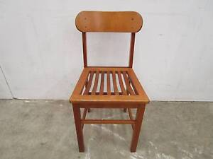 C38005 Single Vintage TH BROWN Oak Chair Unley Unley Area Preview