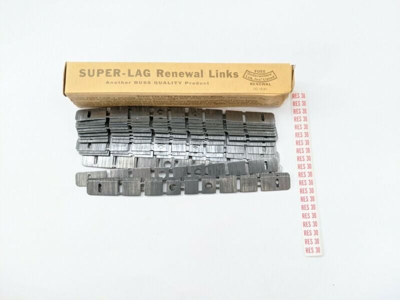 BUSS LKS30 Renewal Links 600V (Qty 20) NOS w labels electrician restore replace