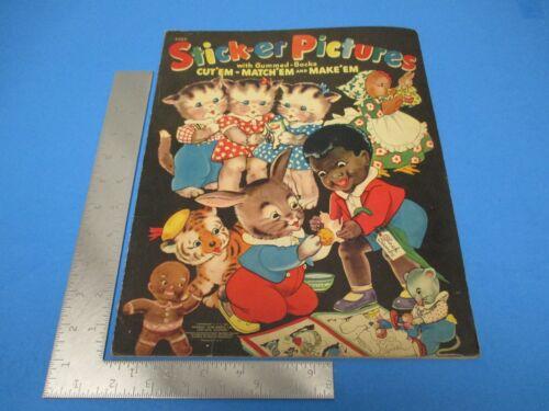 1941 Sticker Pictures Gummed Backs Storybook Characters Merrill Black Sambo L199