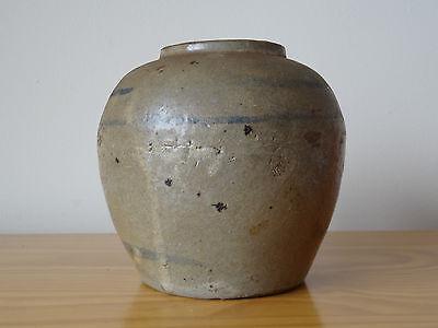 c.16th - Antique Korean Joseon Dynasty Stoneware Ginger Jar Pot Vase