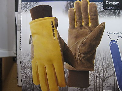 New 1 One Wells Lamont Cold Weather Work Gloves 1pair Suede Cowhide Leather
