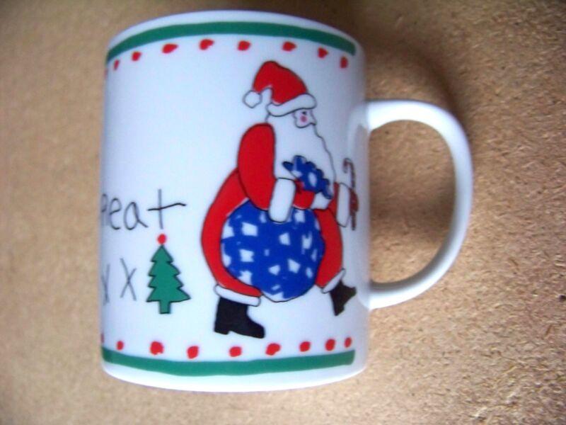 Christmas mug coffee cup Xmas Dear Santa Here