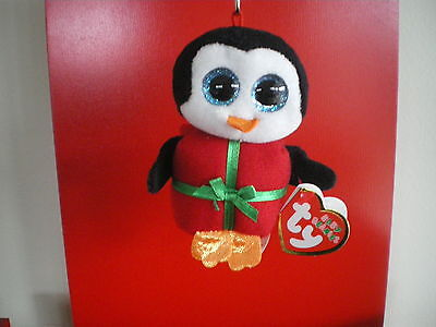 Chill Penguin (Ty Beanie Babies CHILL penguin 3 inch KEYCLIP NWMT.  CHRISTMAS BEANIE.)