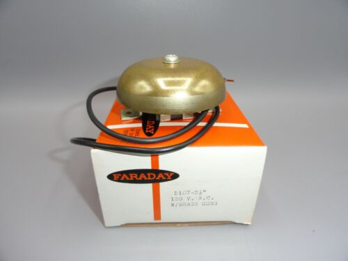 Vintage Elevator Arrival Signal Brass Bell Chime/Gong 120 Volt AC NEW IN BOX