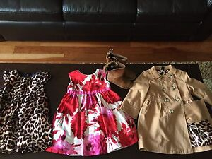 Gap dresses, coat, & boots 2t