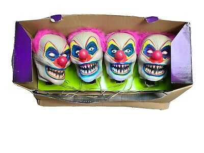 SPIRIT Creepy Clown Pathway Markers, Box Of 4 Motion Light up spooky noises