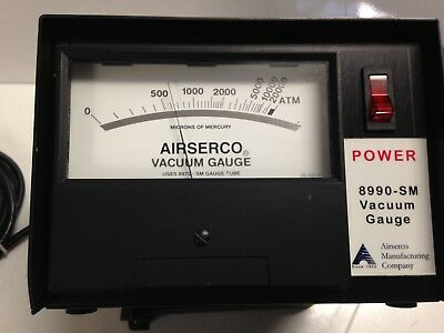 Airserco 8990-sm Industrial High Vacuum Gauge Range 0 To 20000 Microns