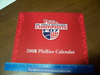 2008 WORLD CHAMPIONS PHILADELPHIA PHILLIES 12 MONTH CALENDAR NEAR MINT-MINT