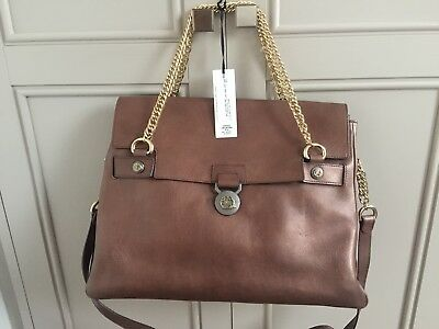 Authentic Stunning BN Large Versace Medusa Golden-Brown Leather handbag RRP £850