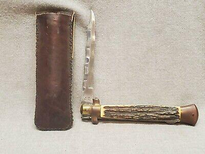 Vintage Kissing Crane Knife Stag KC 45 Stiletto Kris Blade