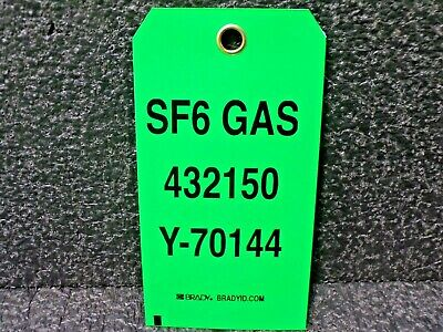 Brady Id Sf6 Gas 432150 Y-70144 Safety Tag 24pk K