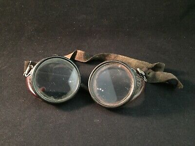 Vintage Welding Goggles Steampunk Aviator Safety Glasses