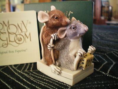 Harmony Kingdom It Takes Two Mice Marble Resin Box Figurine UK Made NIB