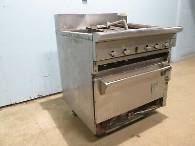 Snorklerwolf Hd Commercial Natural Gas Radiant Charbroiler Wconvection Oven