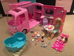 Barbie Deluxe camper with doll