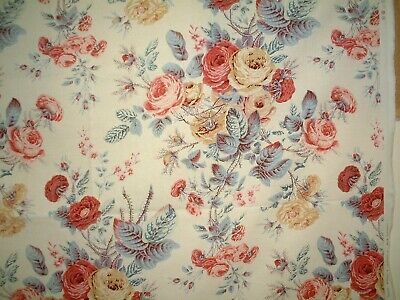 COLEFAX & FOWLER FABRIC EVESHAM ROSE - COUNTRY HOUSE STYLE