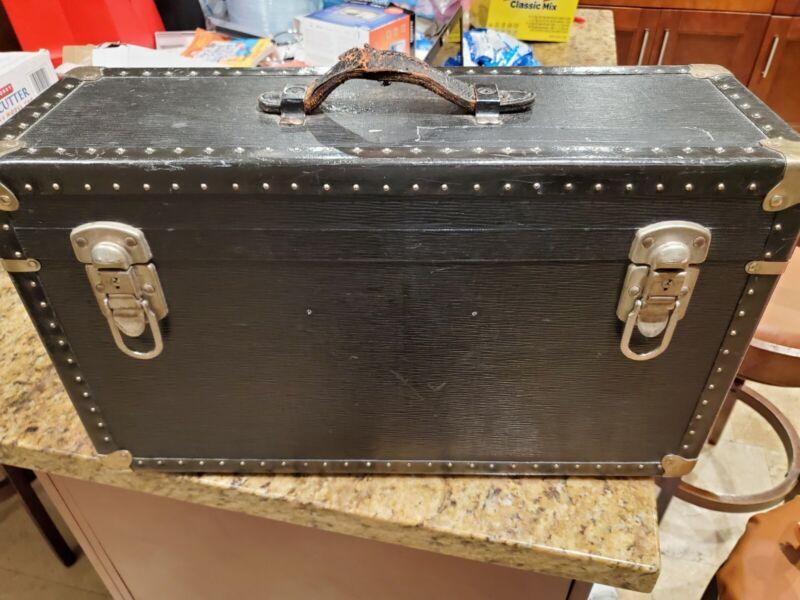Vintage Mitchell 35MM Film Case Mini Trunk Steamer Trunk Chest Film Baggage