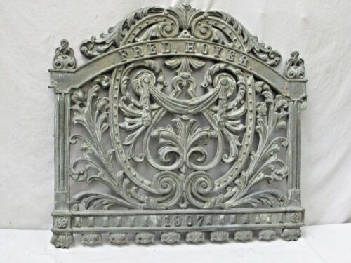 Antique Ornate Victorian Iron Garden Gate Fred Hoyer 1907