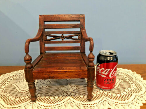 Vintage Handmade Arts & Crafts Salesman Sample / Doll Oak Chair