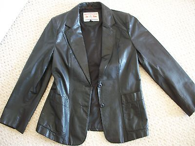 """Jacket Leather Vintage Lady's  was made by Sue """"De"""" Mone in California (#0323)"""