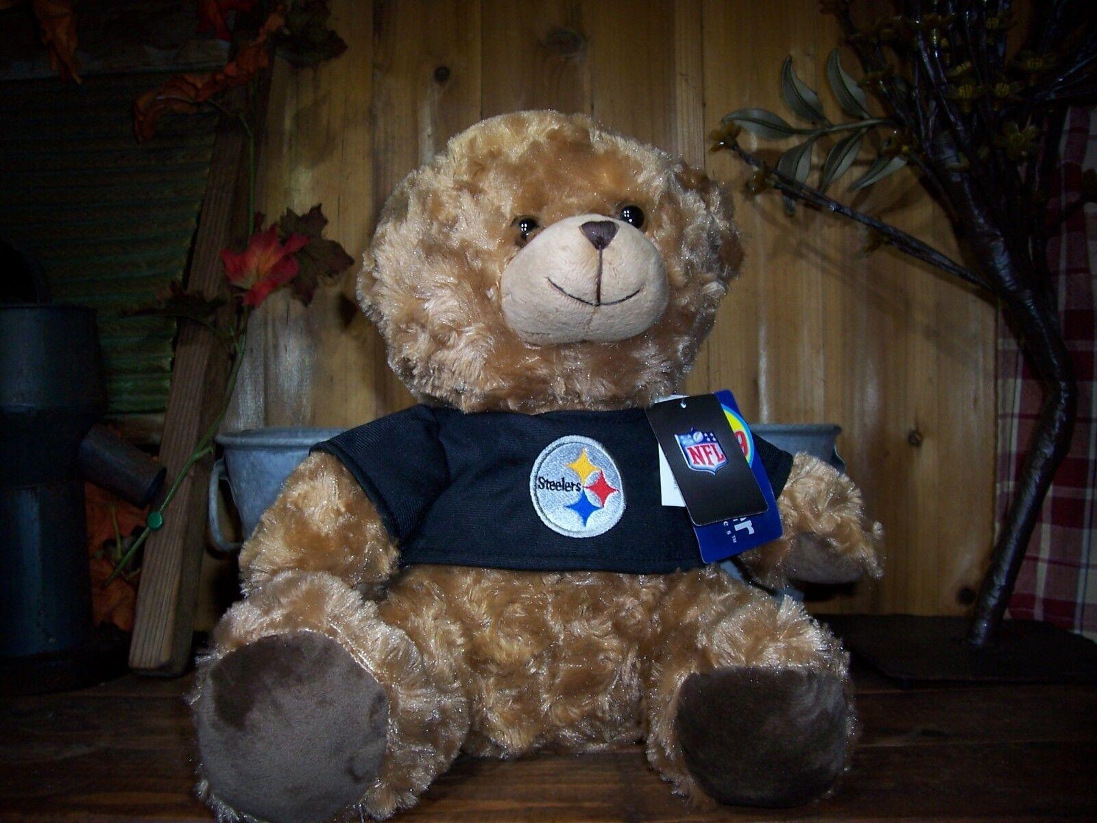 PITTSBURGH STEELERS NFL TEDDY BEAR 12 INCHES BROWN FUR NOVEL