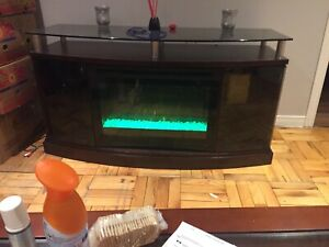 Windham electric fireplace television unit