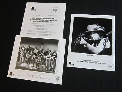 Bob Dylan  Live 1975   Rolling Thunder Revue  2002 Press Kit 2 Photos