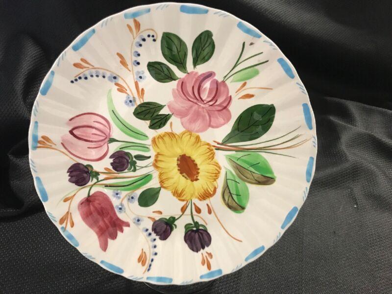 "Blue Ridge Southern Potteries GRANDMOTHERS GARDEN Plate 10 1/4"""