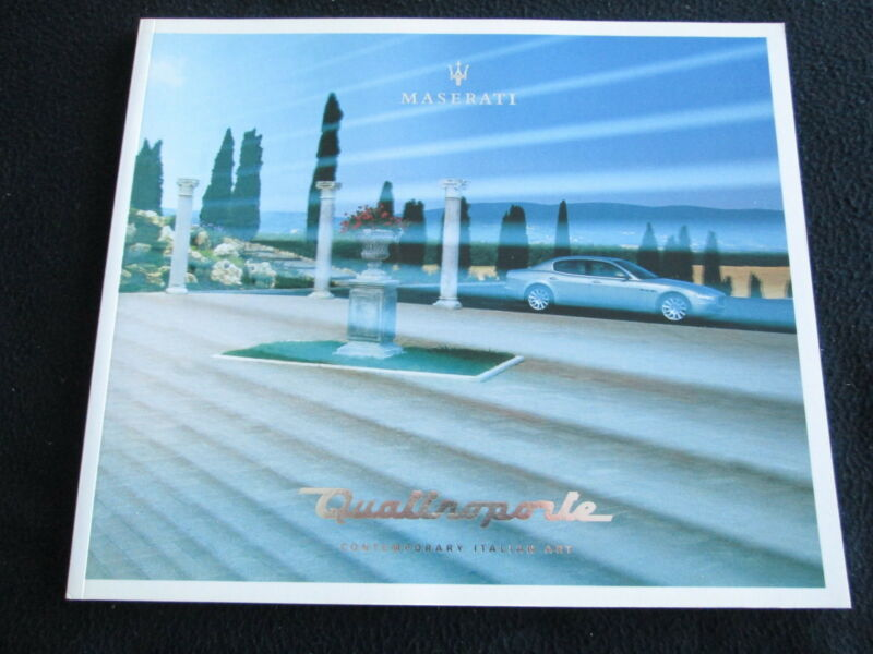 2003 Maserati Quattroporte Deluxe Brochure English / Italian Large Sales Catalog